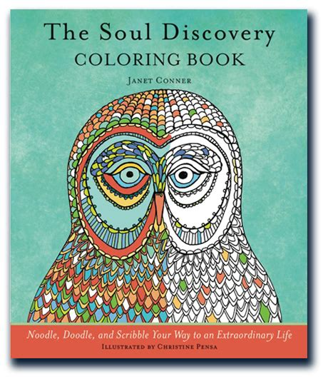 coloring book soul discovery adult janet conner