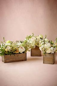 Wooden Flower Boxes for Centerpieces
