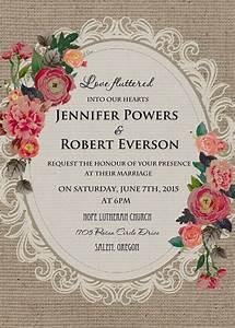 cheap vintage rustic roses wedding invitations EWI397 as