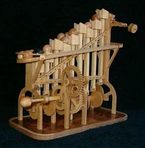 wooden automata hand crank Marvelous wooden ball