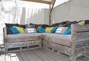 Fabriquer Un Canapé En Palette : modele canape en palette ~ Voncanada.com Idées de Décoration