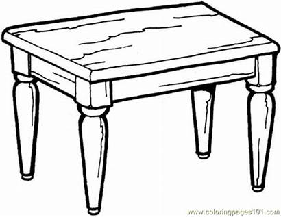 Table Kitchen Coloring Pages Coloringpages101
