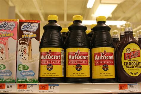 Autocrat, llc (now named finlay extracts and ingredients usa (finlays)) is a coffee and tea extracts manufacturing company based in lincoln, rhode island, united states. Product: Autocrat Coffee Syrup | Flickr - Photo Sharing!