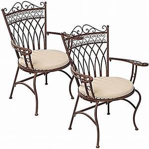 Gartenstuhl Metall Antik : gartenstuhl set versailles metall antik braun 2 tlg ~ Watch28wear.com Haus und Dekorationen