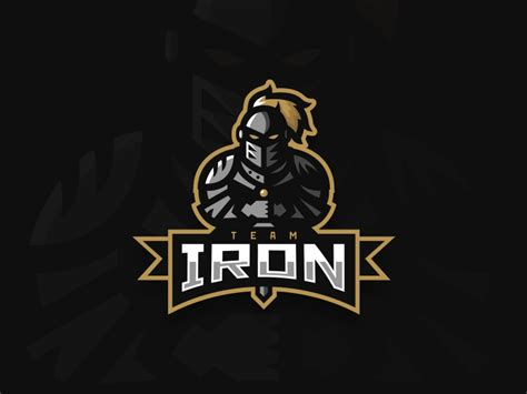 team iron knight mascot logo  kyle papple dribbble