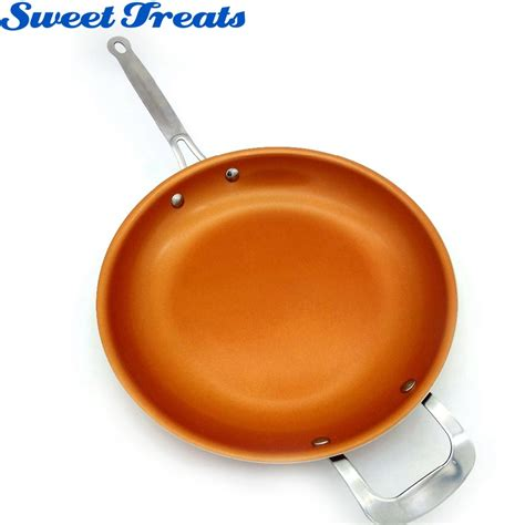 sweettreats  stick copper frying pan  ceramic coating  induction cookingoven