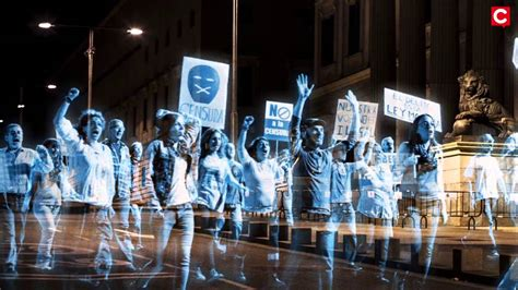Hologram Protests The Way To End Violence And Uphold Law