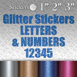 glitter custom vinyl stickers letters numbers adhesive With vinyl lettering decals for crafts