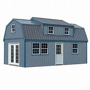 Lakewood 12 Ft  X 24 Ft  Wood Storage Shed Kit Without