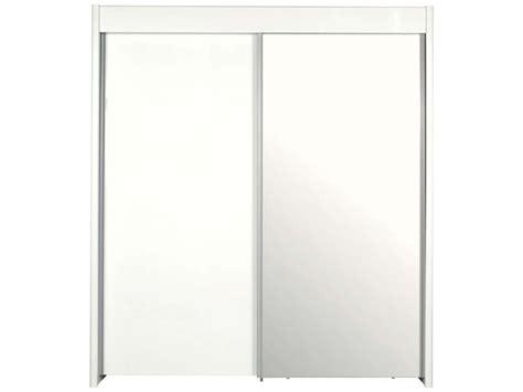 armoire 2 portes coulissantes easy 3 coloris blanc conforama