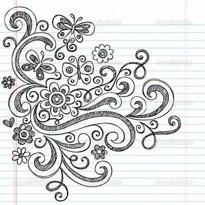 Easy Flower Designs To Draw On Paper - Drawing Of Sketch