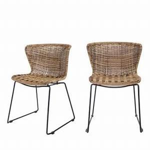 Chaise Rotin Metal : chaise design et moderne chaises designer drawer ~ Teatrodelosmanantiales.com Idées de Décoration