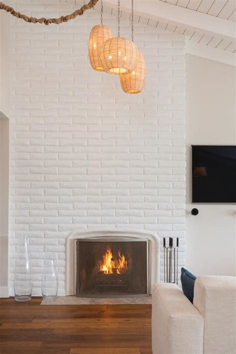 painted brick fireplace 15 gorgeous painted brick fireplaces hgtv s decorating Modern