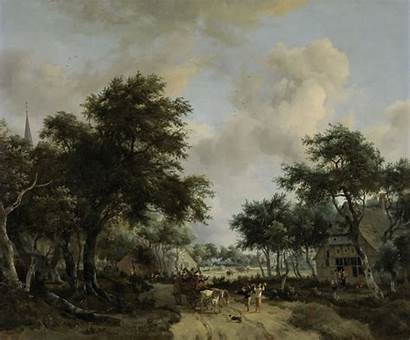 Hobbema Meindert Landscape Rijksmuseum Een Boslandschap Vrolijk