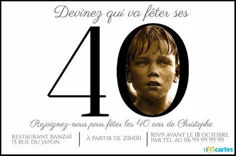 Invitation Anniversaire 40 Ans Chiffres Avec Photo