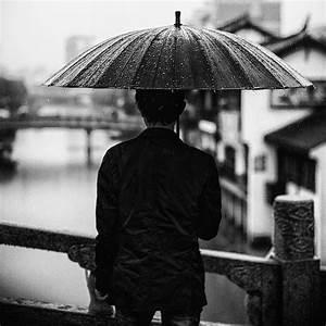 black and white, photography, rain, umbrella - image ...