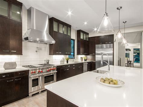 high  contemporary kitchen designs  natural