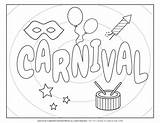 Carnival Coloring Worksheets Planerium Printable Title Poster sketch template