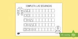 Ficha De Actividad  Completar Las Secuencias