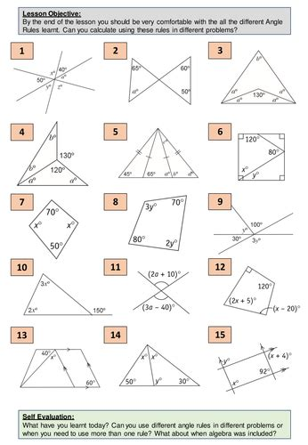 geometry angle 5 angle problems problem solving