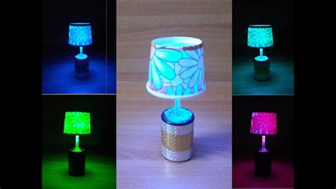 Diy Led Table / Night Lamp With Easily Available And Cheap