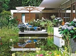sonnenschirm fur terrasse und balkon With französischer balkon mit sträucher für garten