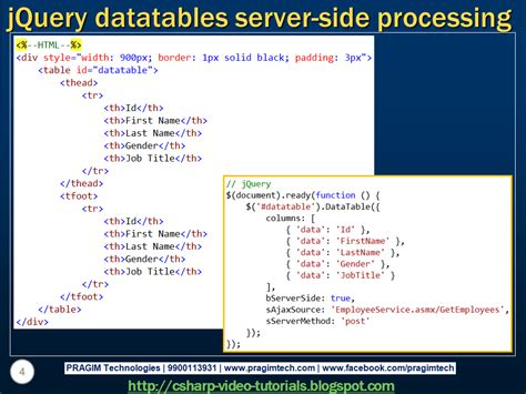 datatable search by datepicker server side sql server net and c tutorial jquery datatables