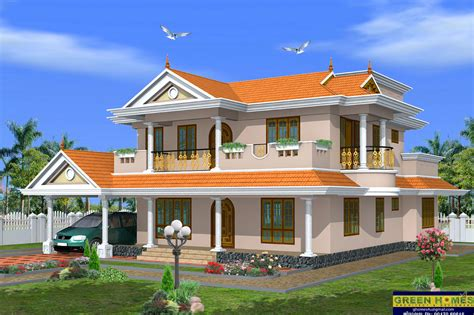 Green Homes Beautiful 2 Storey House Design 2490 Sqfeet