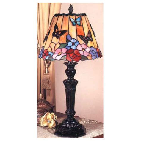 dale tiffany tt tiffany butterfly floral table lamp