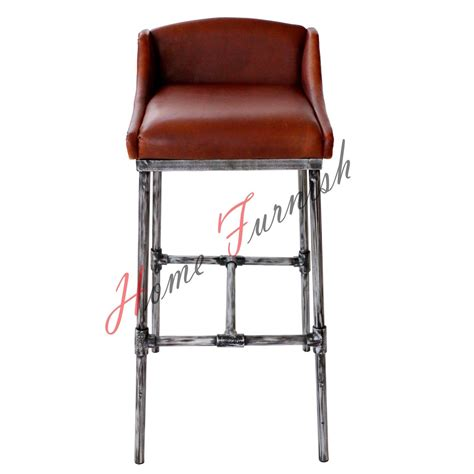 iron bar stools iron counter stools iron scaffold leather stool ndustrial bar counter stool 9011