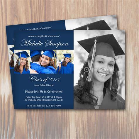 customizable color graduation party invitation template