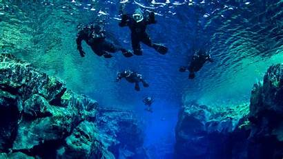 Iceland Snorkeling Silfra Between Fissure Dive Adventure