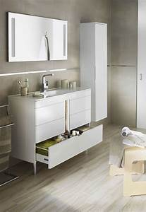 meuble bas salle de bain lapeyre With salle de bain design avec meuble salle de bain blanc et bois