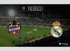 Primera Liga BBVA 8th round Levante UD vs Real Madrid FC