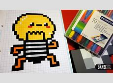 Handmade Pixel Art How To Draw a Kawaii Bulb by Garbi KW