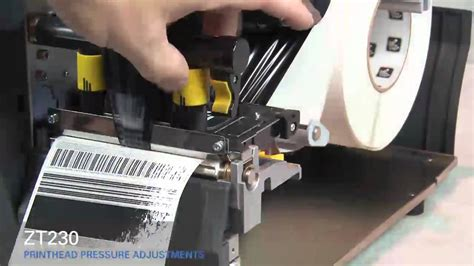 zt printhead pressure adjustment youtube