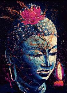 blue Buddha   Zen & peaceful art - art zen et apaisant ...