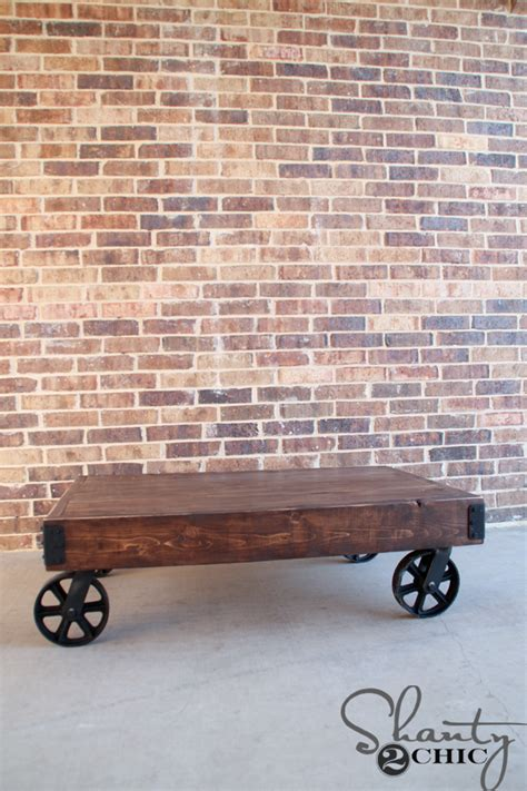 shanty 2 chic coffee table diy factory cart coffee table shanty 2 chic