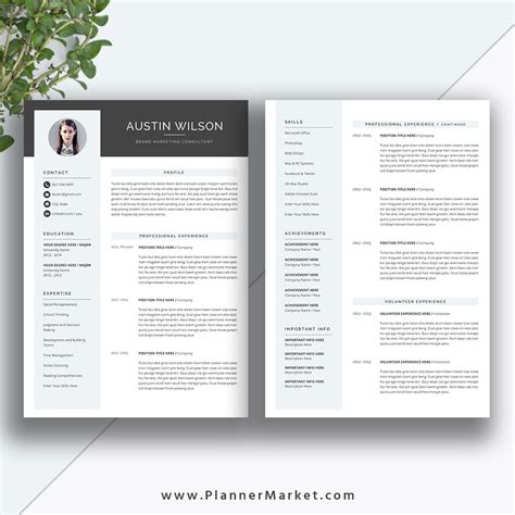 Resume Size by This Eye Catching Resume Template Helps You Get Noticed