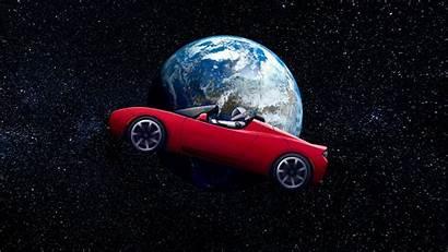 Tesla Astronaut 4k Space Earth Roadster Orbit