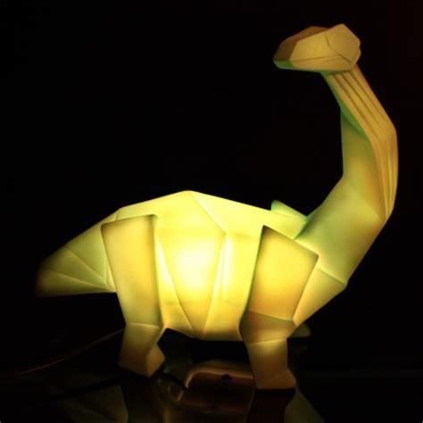origami led dinosaur lamp