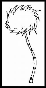 Lorax Truffula Hears Malvorlagen Suess sketch template