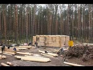 Maison Rondin Bois : construction chalet rondin maison bois chalet bois youtube ~ Melissatoandfro.com Idées de Décoration