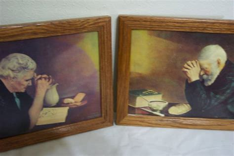 Old Man Praying Over Bread Painting