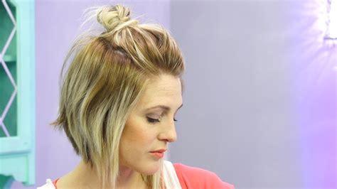 messy bun  short hair hack youtube