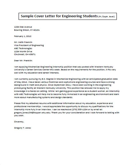 How To Write An Engineering Cover Letter by Application Letter Template Business