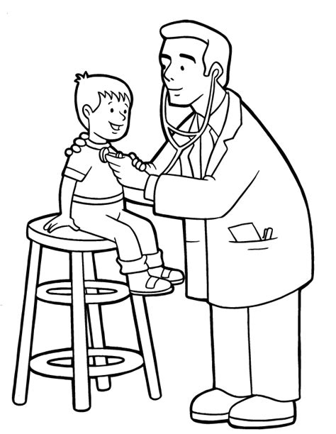 Free Doctor Coloring Pages for Kids