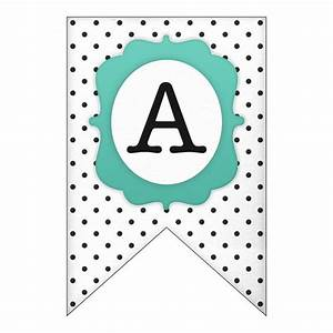 banners free printable and polka dots on pinterest With pennant banner with letters