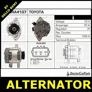 Alternator Toyota Yaris Verso  Yaris  Vitz Dra4107