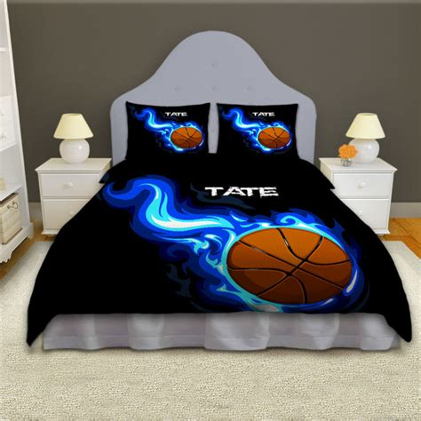 boys basketball personalized comforter set sports bedding